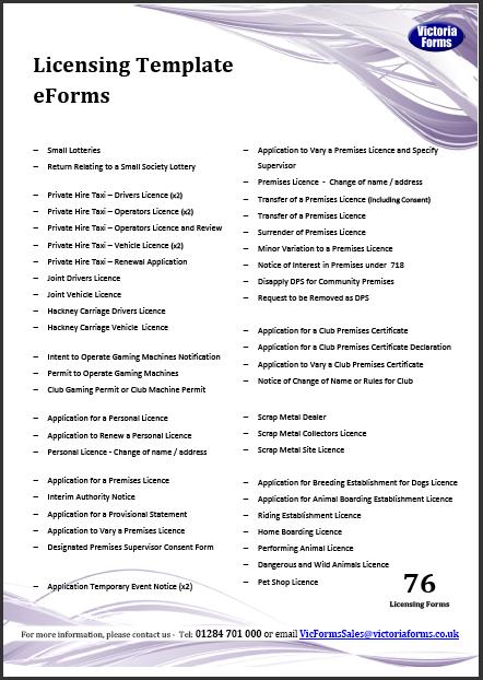 Licensing List