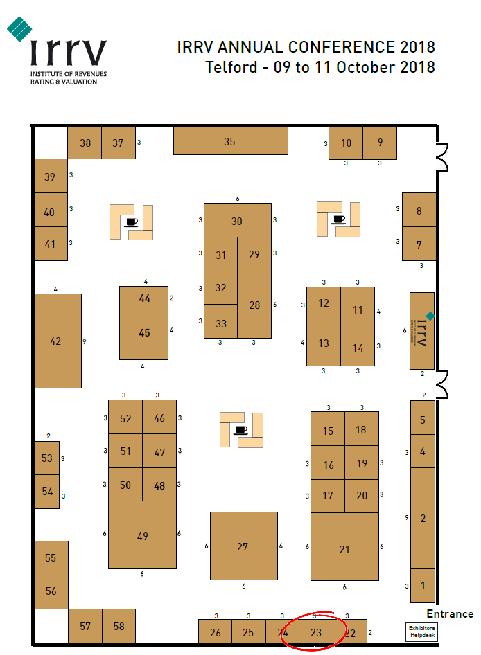 IRRV Annual Conference floor plan