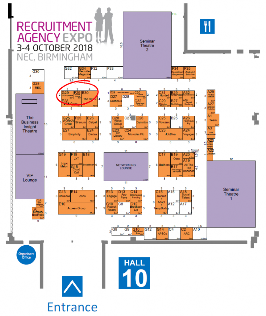 Recruitment Agency Expo floor plan