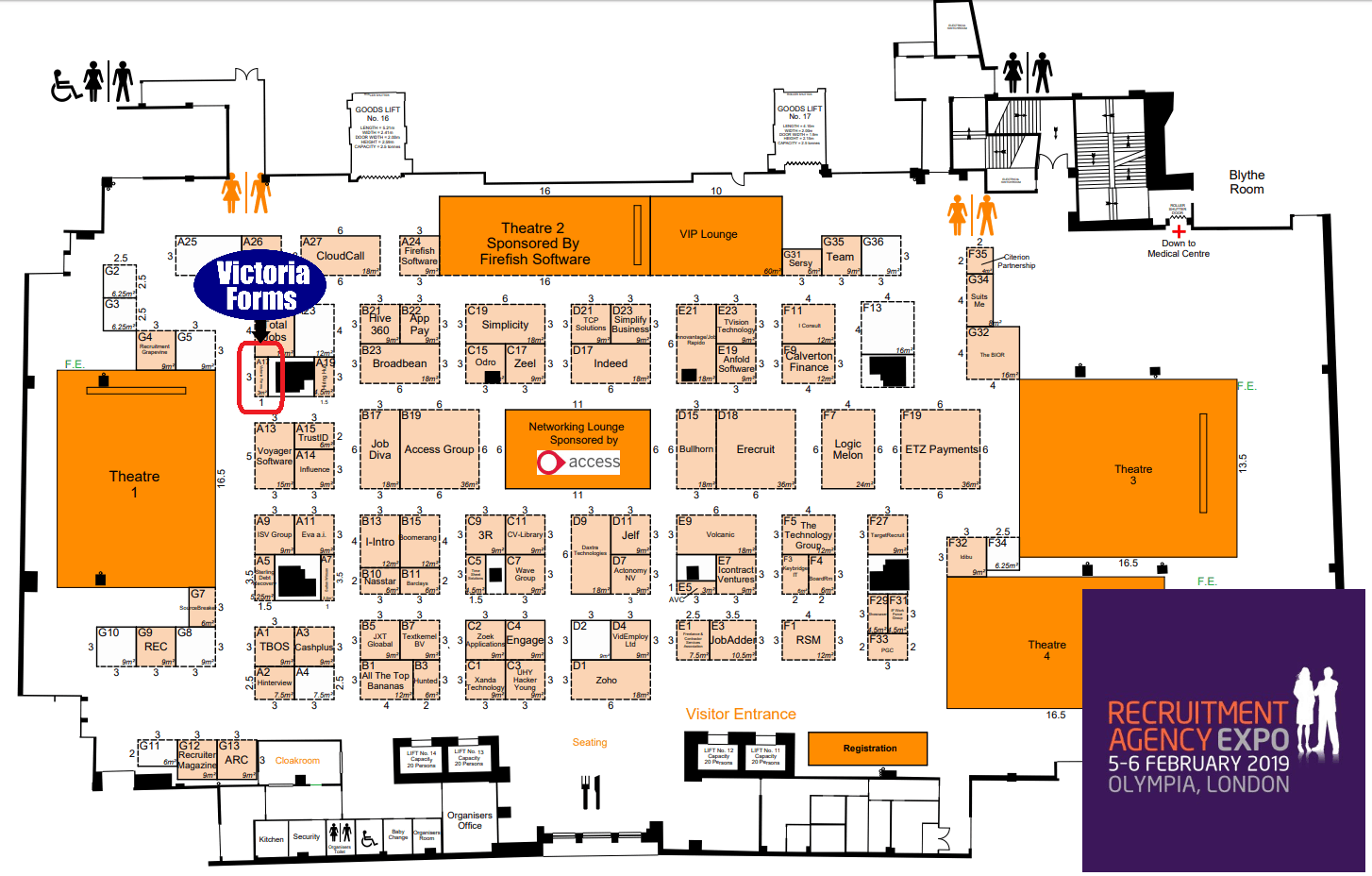 Recruitment Agency Expo map